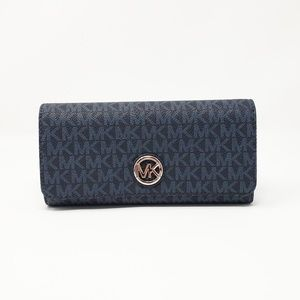 Michael Kors Blue Fulton Wallet